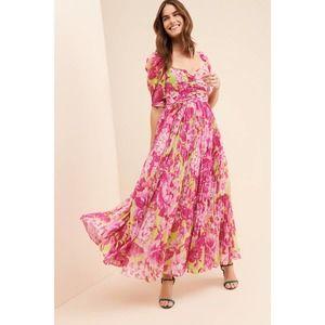 Rococo Sand Havana Green & Pink Floral Maxi Dress